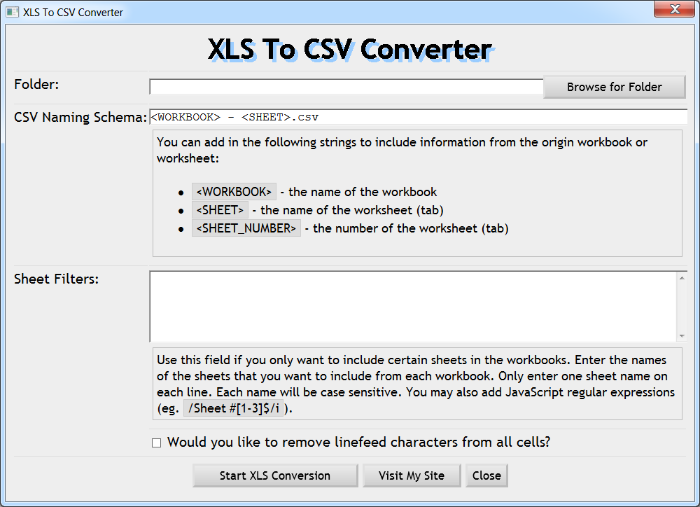 Batch Excel To CSV Converter Application – Chris West's Blog