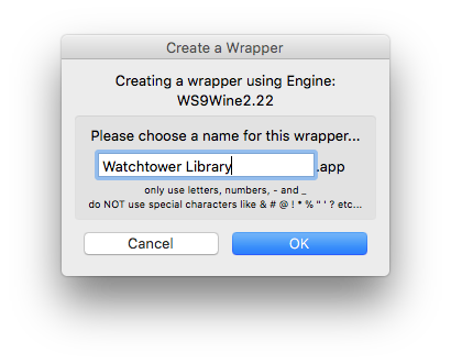 Install Watchtower Library on Mac Using Wineskin Winery – Chris